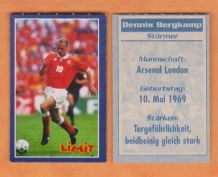 Holland Dennis Bergkamp Arsenal (L)